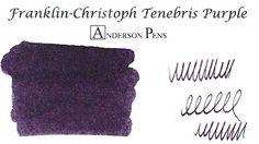 Franklin-Christoph Tenebris Purple (2oz Bottle) Fountain Pen Ink