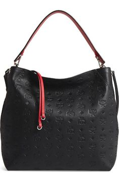 Buy MCM Klara Monogrammed Leather Hobo Bag online fb1111da41f16