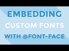 HTML & CSS : Embedding custom fonts with @font-face - YouTube