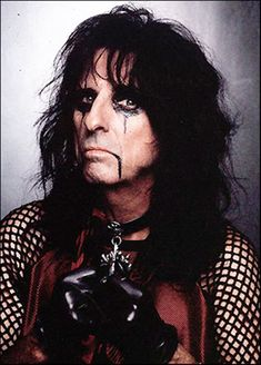 Alice Cooper, definately my idol. No other musician is like him