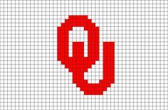 Oklahoma Sooners Pixel Art from BrikBook.com #OklahomaSooners #Oklahoma #sports #team #UniversityofOklahoma #pixel #pixelart #8bit Shop more designs at http://www.brikbook.com
