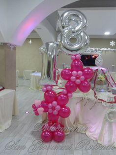 #diciottesimo #dolcemania #palloncini #puglia #fiore #flower #balloons #diciotto #balloon #art #idea #gargano #italy #sangiovannirotondo