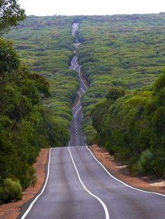 Route sur l'île Kangourou
