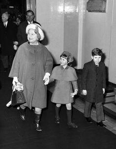 Queen Elizabeth, the Queen Mother and Lady Sarah Armstrong-Jones