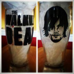 Daryl Dixon Beer Glass