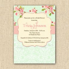 Shabby Chic Invitations