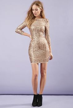 Sequined Abstract-Patterned Dress - Dresses - Bodycon - 2000162787 - Forever 21 EU English