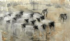 Jane Rosen - Drawings - New Works - charcoal, rabbit skin glue, sumi-e, watercolor on paper