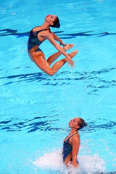 Greece compete during the Synchronized Swimming Free Combination Final on day eight of the 15th FINA World Championships at Palau Sant Jordi on July 27, 2013 in Barcelona, Spain.