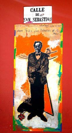 """Mural art """"Albizu Campos"""" by Dennis Mario Rivera - photography, Llanos Colon 2013"""