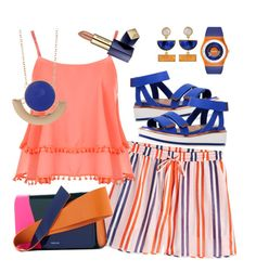 """""""Summertime"""" by petalp ❤ liked on Polyvore featuring Ginger & Smart, Diane Von Furstenberg, WearAll, 14th & Union, Kakao By K, Kenzo, Estée Lauder and shorts"""