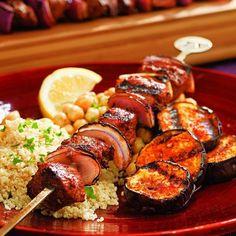 Turkish Lamb & Eggplant Kebabs