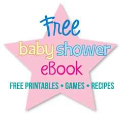 Free baby shower ebook - free printable favor tags, decor, games, recipes and punch ideas!  #babyshower