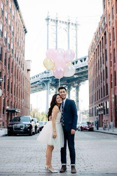 Lovey-Dovey In New York City - Inspired Bride