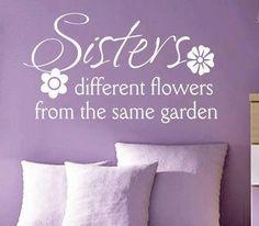 Purple walls and Purple Sister Flowers