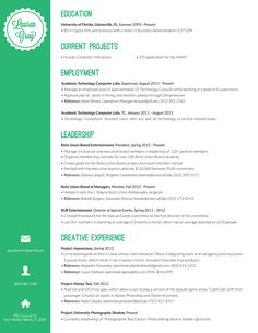 Resume indesign template