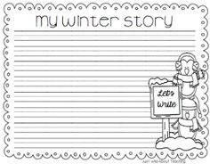 Just Wild About Teaching: Writing through the Winter - Writing Center Starters with Topic Cards Bundle!