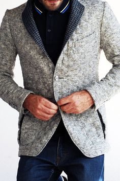simplypi src - sharp gray blazer, though I've never been a huge fan of quilting on tops, this is nice
