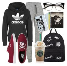 """On the road outfit"" by carogamer ❤ liked on Polyvore featuring Icebreaker, adidas, Vans, Mini Cream and Smythson"