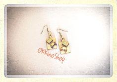 Orecchini legno miniature di OkkinoShop su DaWanda.com