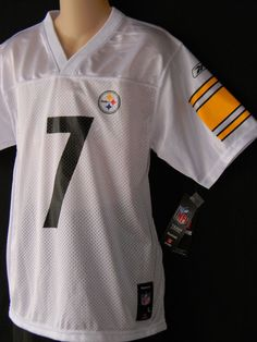 Ben Roethlisberger Jersey Steelers Youth Sizes Football NFL Pittsburgh  White  Reebok  PittsburghSteelers d6eecec31