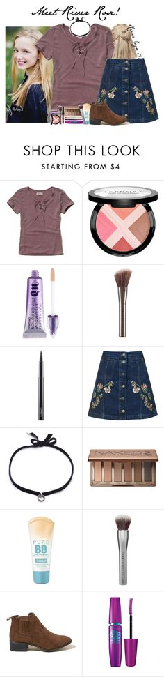 """Meet River Rose ! (( Info Set ))"" by dream-polyfam ❤ liked on Polyvore featuring Hollister Co., Sephora Collection, Urban Decay, MAC Cosmetics, Topshop, DANNIJO, Maybelline, samuelsfamily and samuelsremember"