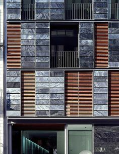 There are lots of design apartment building facade architecture that you can see here. This facade design are awesome contemporary and amazing. Building Elevation, Building Exterior, Building Facade, Building Design, Building Ideas, Architecture Design, Residential Architecture, Design Exterior, Facade Design