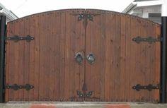ворота распашные деревянные - Pesquisa Google