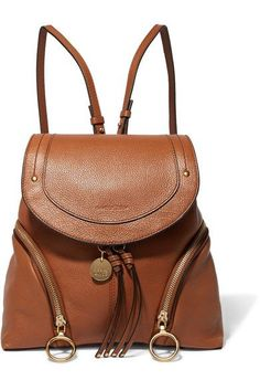 See by Chloé - Olga Textured-leather Backpack - Tan