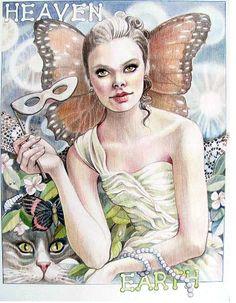 Heaven & Earth Energy Drawing by Elizabeth Ann Shafer