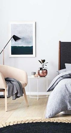 own your morning // bedroom // interior // home decor // wall art // city suite // urban living // city life // luxury life //
