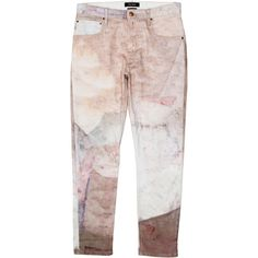 Pre-owned Isabel Marant Jeans ($125) ❤ liked on Polyvore featuring jeans, neutrals, multi colored jeans, denim skinny jeans, print jeans, isabel marant and patterned skinny jeans
