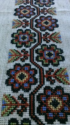 Europe - Ukraine Folk Embroidery, Beaded Embroidery, Cross Stitch Embroidery, Embroidery Patterns, Stitch Patterns, Cross Stitch Borders, Cross Stitch Flowers, Cross Stitch Designs, Blackwork
