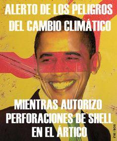#Obama #Meme #CambioClimatico #GlobalWarming #Shell #COP21