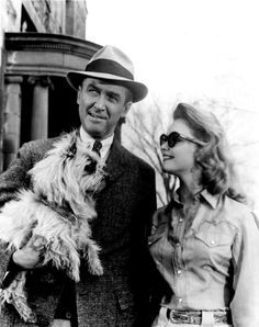 James Stewart and Lee Remick on the set of Anatomy of a Murder, 1959