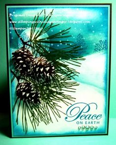 Peace on Earth by Julie Gearinger - .http://stampingwithjuliegearinger.blogspot.ca/2014/10/peace-on-earth-two-challenges-in-one.html
