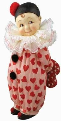 Bethany Lowe Sweet Valentine Clown I'm afraid of clowns, but this one is cute! Vintage Valentines, Be My Valentine, Valentine Hearts, Valentine Images, Shabby Chic Antiques, Happy Hearts Day, Bethany Lowe, Heart Day, Romantic Outfit