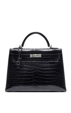092b150eb HERITAGE AUCTIONS SPECIAL COLLECTIONS 32Cm Black Shiny Porosus Crocodile  Kelly $39,000 ($19,500 deposit) Bolsos