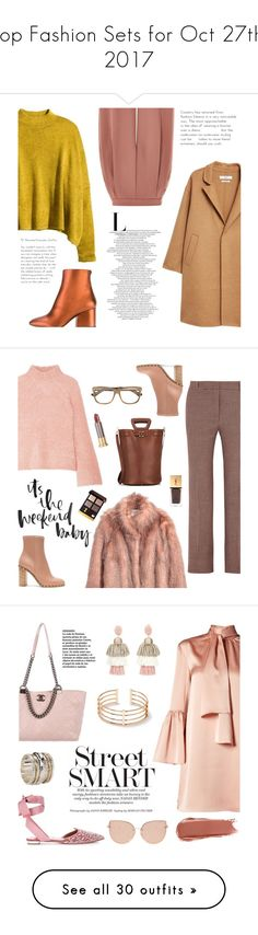 """""""Top Fashion Sets for Oct 27th, 2017"""" by polyvore ❤ liked on Polyvore featuring H&M, MANGO, Salvatore Ferragamo, Topshop, Ulla Johnson, Paul & Joe, Yves Saint Laurent, Urban Decay, Valentino and Cartujano"""