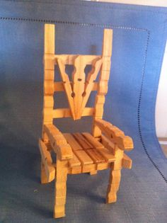 who said you need a saw to build furniture! clothes pin chair