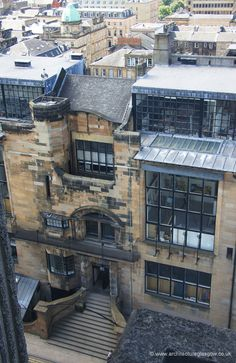 architectureglasgow.co.uk Glasgow Architecture, Historic Architecture, Art And Architecture, Mackintosh Furniture, Art Nouveau, Vienna Secession, Cityscape Photography, Charles Rennie Mackintosh, Glasgow School Of Art