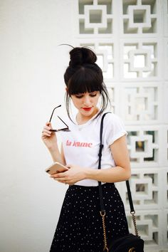 New Darlings - Polka Dot skirt and tshirt - Casual Summer Style