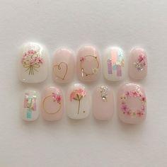 französische Nägel Schellack Form im Jahr 2020 Korean Nail Art, Korean Nails, Minimalist Nails, Nail Swag, Bridal Nails, Wedding Nails, Cute Acrylic Nails, Cute Nails, Pastel Nails