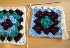 ***How to join granny squares as you go. Great tutorial!