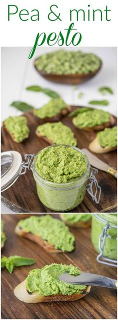 Pea & mint pesto is an easy and delicious way to use the fresh peas of the season. So good on and with anything. Mix into hot pasta, gnocchi, spread on crusty bread for crostini, use as a dip for veggies or turn into a soup.