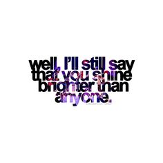 brighter - paramore quote ❤ liked on Polyvore