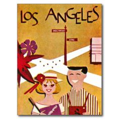 Los Angeles California ~ Vintage Travel Poster Postcard This site is will advise you where to buyShopping          	Los Angeles California ~ Vintage Travel Poster Postcard Here a great deal...