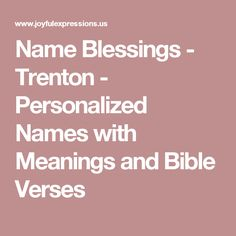 What is the biblical meaning of the name