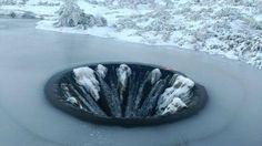 """Lembra-se do """"buraco"""" da Serra da Estrela? Está congelado e fica ainda mais mágico"""