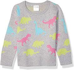 Amazon.com : dinosaur CLOTHES for girls Dinosaur Jumper, Dinosaur Outfit, Girls Jumpers, Girls Sweaters, Sleeveless Cardigan, Knit Jacket, Pulls, Long Sleeve Sweater, Kids Outfits